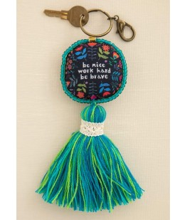 """""""BE NICE BE BRAVE"""" KEYCHAIN..."""