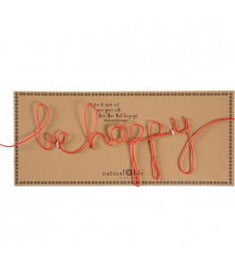 """BE HAPPY"" DECORATIVE SIGN"