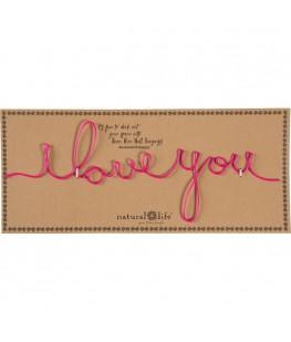 """I LOVE YOU"" DECORATIVE SIGN"