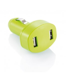 DOUBLE USB CAR CHARGER - VERDE