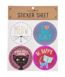 """CAT"" STICKER SHEET - UNIC"