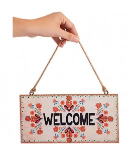 """WELCOME"" WALL HANGING - UNC"