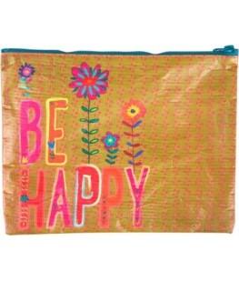 """BE HAPPY"" ZIP POUCH - UNIC"