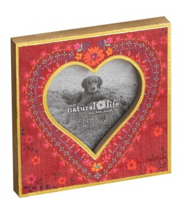 """""""RED FLORAL"""" PHOTO FRAME -..."""