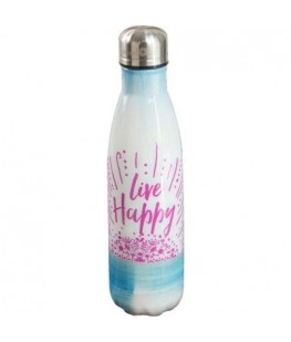 """LIVE HAPPY"" WATER BOTTLE -..."