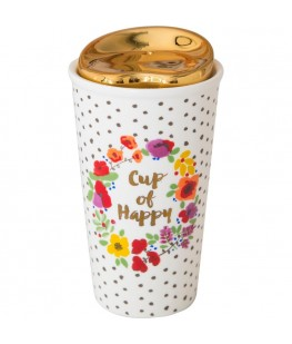 """CUP OF HAPPY"" THERMAL MUG..."