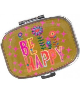 """BE HAPPY"" PILL BOX - UNIC"