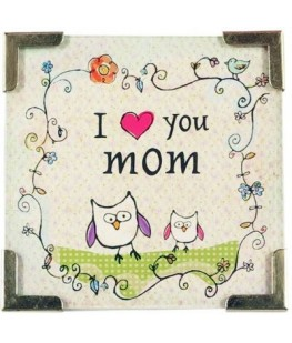 """I LOVE YOU MOM"" MAGNET - UNIC"