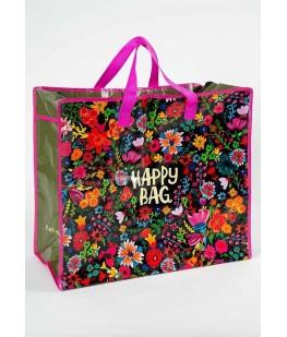"JUMBO ZIP TOTE ""HAPPY BAG""..."