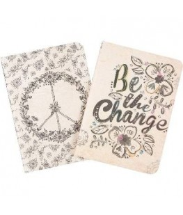 """""""BE THE CHANGE"""" 2 NOTEBOOK..."""