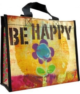 """""""BE HAPPY"""" RECYCLED BAG - UNIC"""