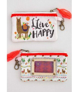 """LLIVE HAPPY"" ID POUCH - UNC"
